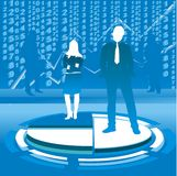 Business couple illustration Royalty Free Stock Photography