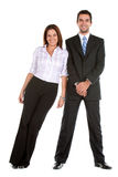 Business couple isolated Royalty Free Stock Image