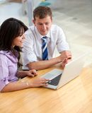 Business couple on a laptop Royalty Free Stock Photo