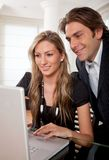 Business couple on a laptop Stock Photo