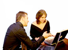 Business Couple - laptop 2 Royalty Free Stock Photos