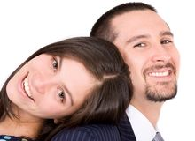 Business couple looking happy Royalty Free Stock Image