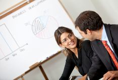 Business couple at a meeting Stock Photo