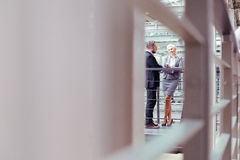Business couple in modern office building Stock Photography