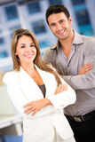 Business couple at the office Stock Image