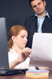 Business couple in office Stock Photography