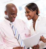 Business couple at the office Royalty Free Stock Image