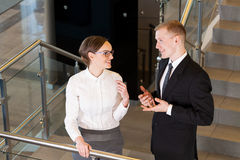 Business couple at office Stock Photography