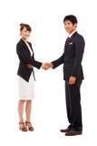 Business couple shaking Stock Photo