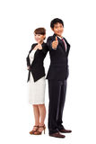 Business couple showing thumb. Royalty Free Stock Images