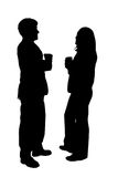 Business couple silhouette Stock Photos