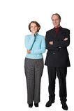 Business couple standing Stock Photos