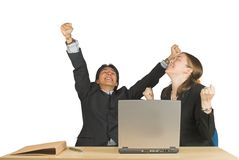 Business couple of success Royalty Free Stock Photo