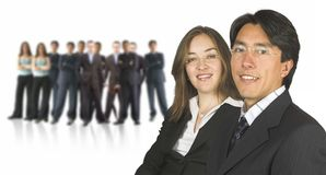 Business couple and their executive team Stock Photography