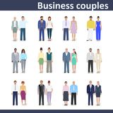 Business couple, vector illustration Stock Image