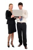 Business couple withlaptop Stock Photo