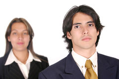 Business Couple WM. Business Couple ready to work Royalty Free Stock Photos