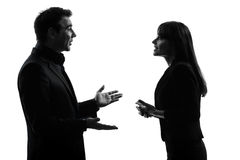 Business  couple woman man silhouette Royalty Free Stock Photography