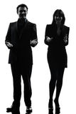 Business  couple woman man silhouette Stock Photo