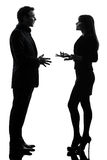 Business couple woman man silhouette stock photo