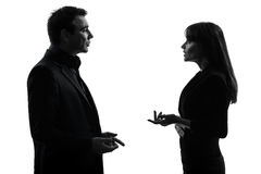 Business  couple woman man silhouette Royalty Free Stock Photo