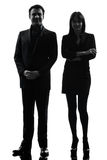 Business  couple woman man silhouette Stock Photography
