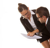 Business couple at work Royalty Free Stock Images