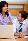 Business couple working Royalty Free Stock Images