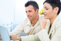 Business couple working Royalty Free Stock Photo