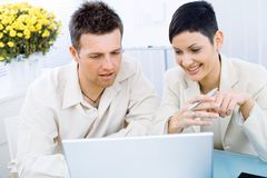 Business couple working Stock Photography