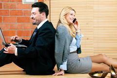 Business couple is working at home Stock Photo