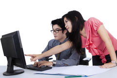 Business couple working together Stock Photo