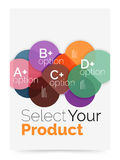 Business cover brochure design with select option diagram. Vector abstract background Stock Photo
