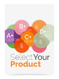 Business cover brochure design with select option diagram. Vector abstract background Stock Photos