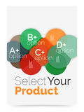 Business cover brochure design with select option diagram. Vector abstract background Stock Image