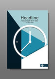 Business Cover design A4 with clock. Vector Royalty Free Stock Photos