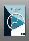 Business Cover design A4 with rise graphic. Financial Annual rep Royalty Free Stock Photography