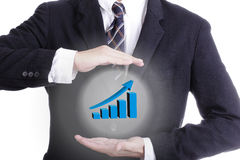 Business cover growing graph Royalty Free Stock Photo