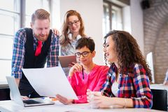 Free Business Coworkers Celebrate Achieved Goals In Office Royalty Free Stock Images - 101999009
