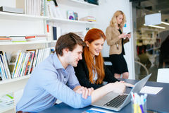 Business coworkers consulting in office Stock Photos
