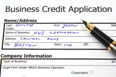 Business credit Stock Photo