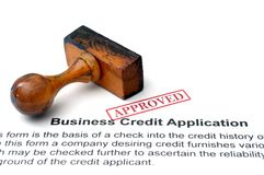 Business credit application Stock Images
