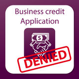 Business credit application denied Stock Photos