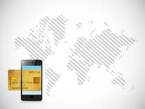 Business credit card illustration design Stock Image