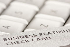 Business Credit Card On Laptop stock photography