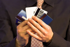 Business credit choice - hands Stock Photos