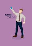 Business Credit Conceptual Vector Illustration Stock Photos