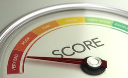 Business Credit Score Gauge Concept, Very Bad Grade royalty free stock images