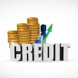 Business credit sign illustration design Stock Photos