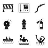 Business crew icons set, simple style. Business crew icons set. Simple set of 9 business crew vector icons for web isolated on white background Royalty Free Stock Photos